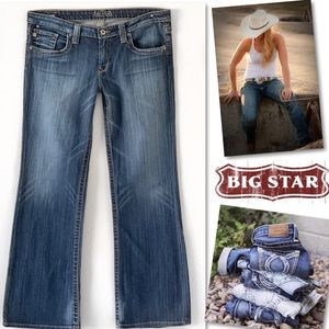 Big Star Casey Long Sexy Bootcut Jeans Sz 33 X 32